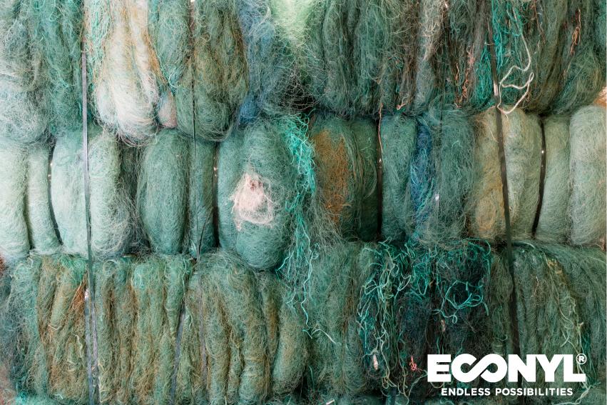 ECONYL® tillverkas av avfall från bland annat förbrukade fisknät. Ta vara på havet!